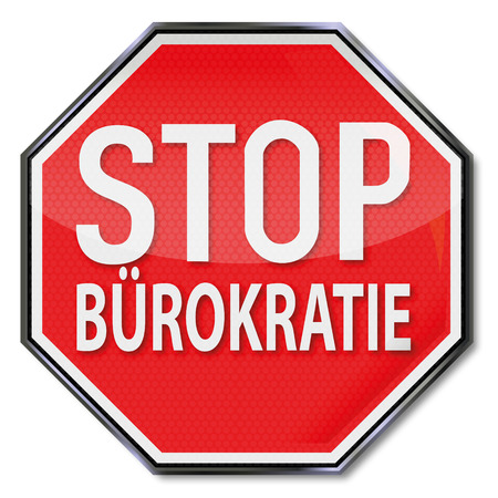 tax policy: Stop sign with no bureaucracy