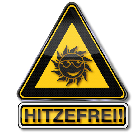 Sign with sun and heat free
