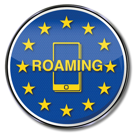 roaming: Smartphone and roaming Illustration