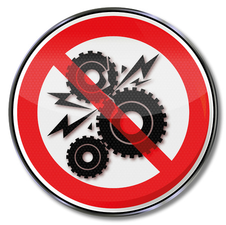 Prohibited for gear crash and gearboxes Illustration