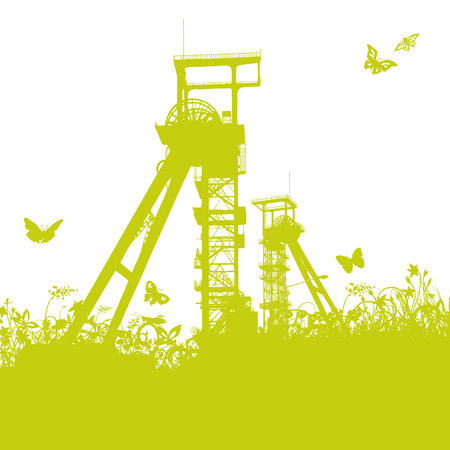superposition: Conveying towers in the grass