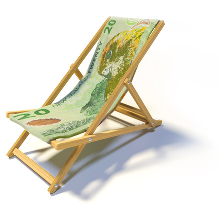 Folding chair with 20 New Zealand dollars