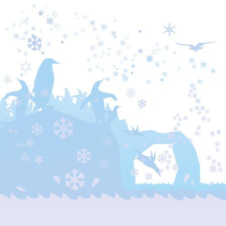 Penguins in the Arctic Ocean