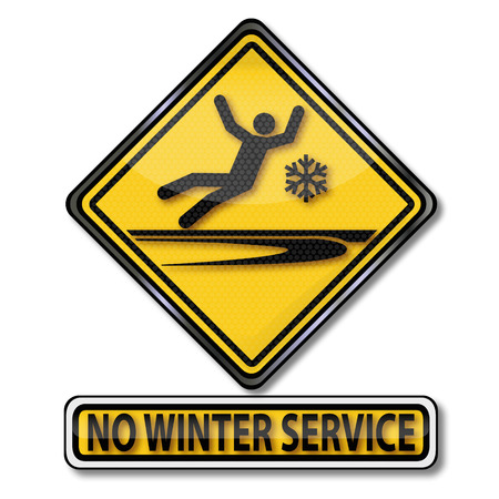 Caution no winter service and slipping