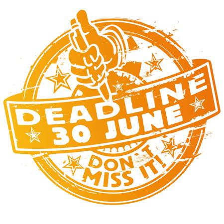 Stamp deadline June 30th