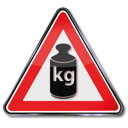 kilos: Weight and kilos and measuring unit Illustration