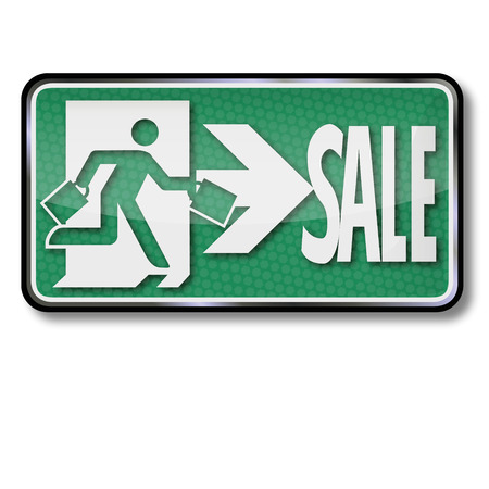 commercially: Sale sign. Illustration