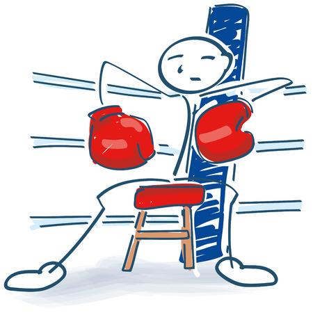 Stick figure as a boxer Illustration