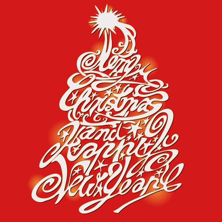 Christmas tree and Merry Christmas
