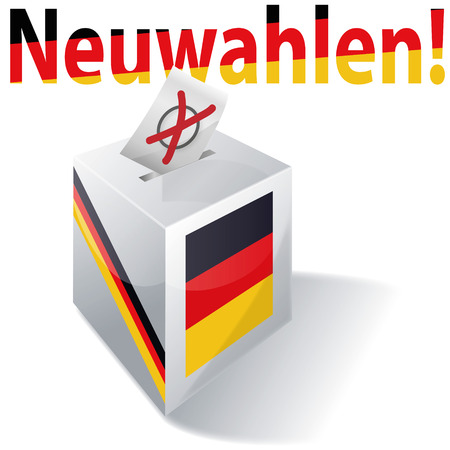 Electoral box with new german elections once again