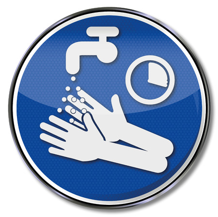 Please wash and disinfect hands for 15 seconds Illustration