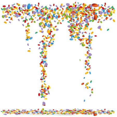 Confetti in de lucht Stock Illustratie