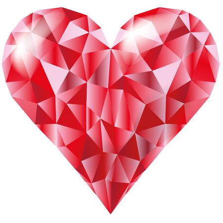 Heart of diamonds Vector illustration.