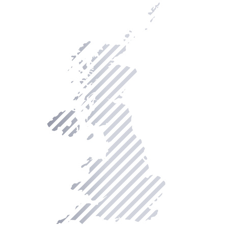 Map of Great Britain in stripes. Illusztráció