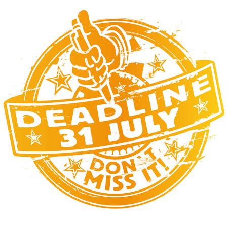 Rubber Stamp deadline July 31st