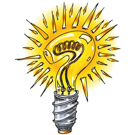 Point d'interrogation comme une ampoule