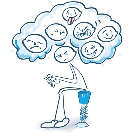 Strichmännchen mit unterschiedlichen Emotionen