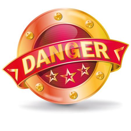 Button indicates a danger