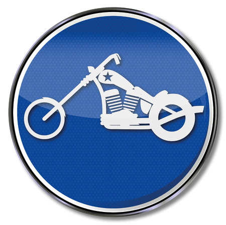 Shield motorcycle or chopper Vetores