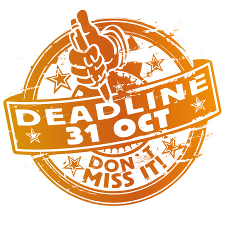 Stamp Deadline October 31st Illustration