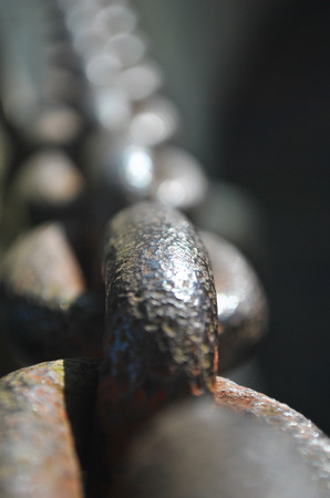 Rusty ship chain
