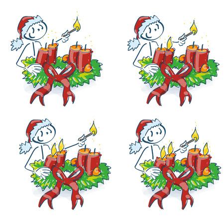 Der Weihnachtsmann zündet jede Woche deine Kerze am Adventskranz an