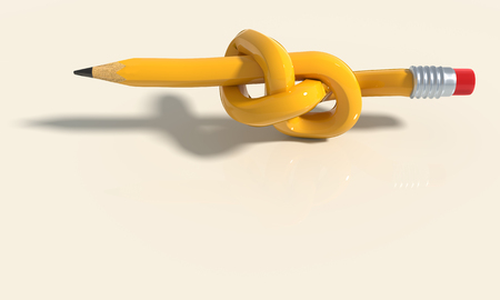 Pencil, knot and problem