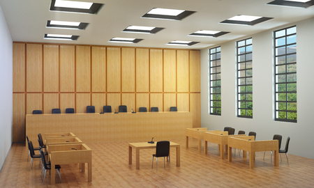 Small hall or empty courtroom