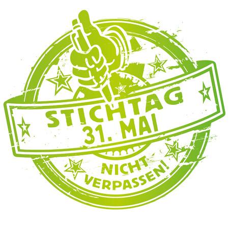Rubber stamp Deadline May 31st Ilustração