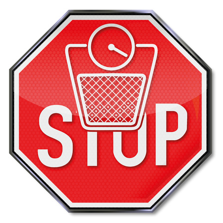 Shield with a body scale and stop for overweight