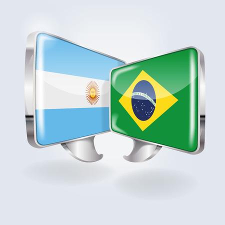 Speech bubbles in brazilian and argentinian