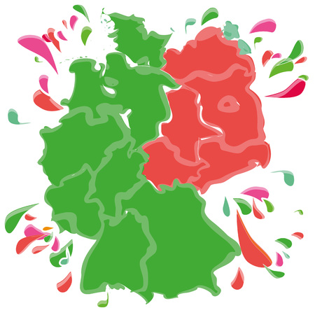Spots and blobs with Germany in East and West