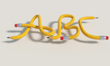 Pencil knot with A, B and C and education
