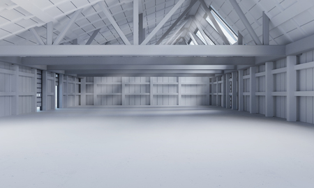 Industrial hall with lots of space and big emptiness