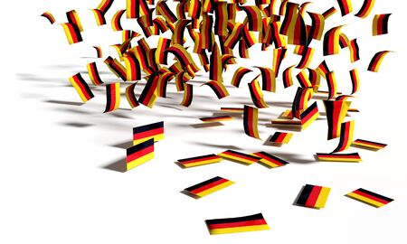 Many flags are falling to the ground Standard-Bild