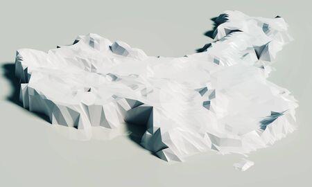 Mapa reliefowa z wysokościami Chin
