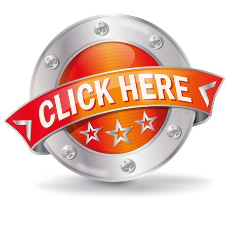 Button with click here and go on Illustration