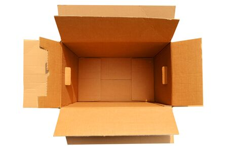 Opened carton and free space for logistics