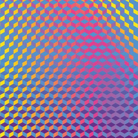 Colorful cube pattern or honeycomb