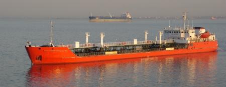 anchored: tanker ship Stock Photo