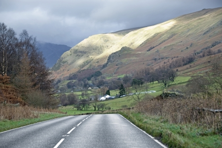 Lake District national park late autumn early winter scenic drive  Stock Photo - 21230437