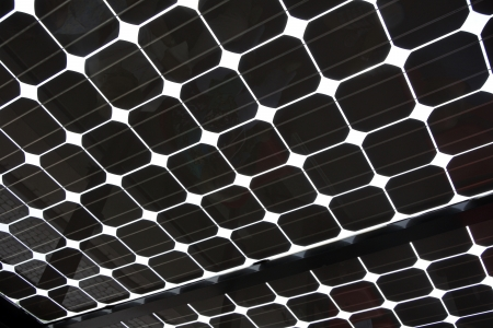 background abstracts: Close up of Solar Panel as abstract background pattern image