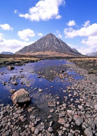 pyramidal: Buachaille Etive Mor pyramidal mountain at the head of Glen Etive