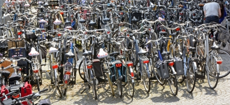 locating: Locating your bike in a cycle park in Maastricht Netherlands