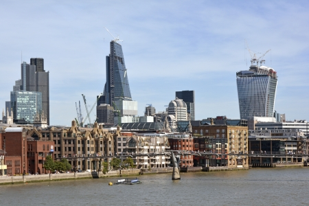 walkie talkie: City of London Skyline including new Cheesegrater and Walkie Talkie buildings