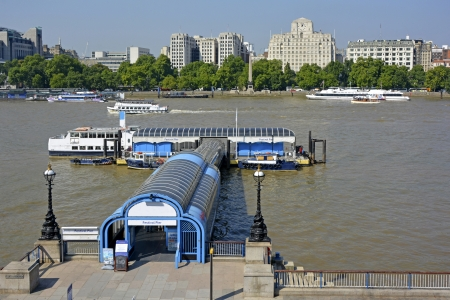 tour boats: Pier for use by river tour boats and commuter services with disembarking and embarking facilities