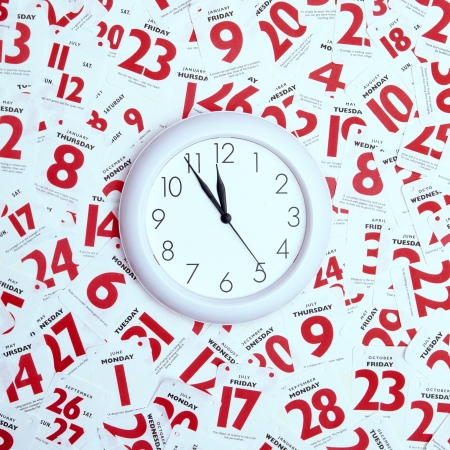 Concept image relating to managing life s  timetable, appointments etc Stock Photo