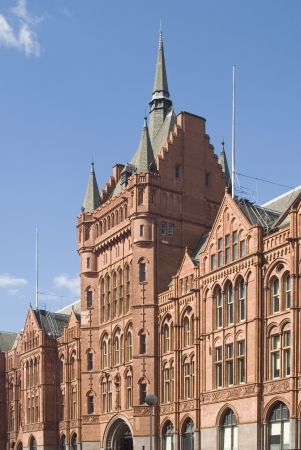 prudential: Old terracotta clad office building in London originally occupied by the Prudential  Stock Photo