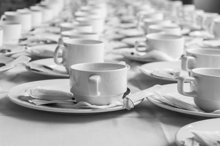 monotone: Monotone color set of coffee break at meeting