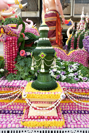 Flower decoration from Chiang Mai Flower Festival, Thailand